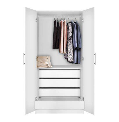 Drawers For Inside Closet by Alta Wardrobe Closet 2 Doors 4 Interior Drawers