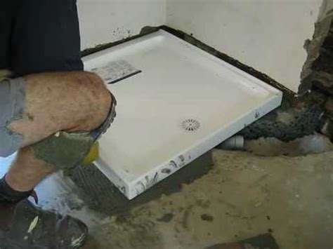 shower base Installation   YouTube