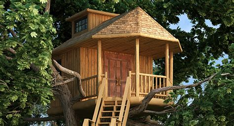 log tree house plans lookout tree house 9605 the house designers