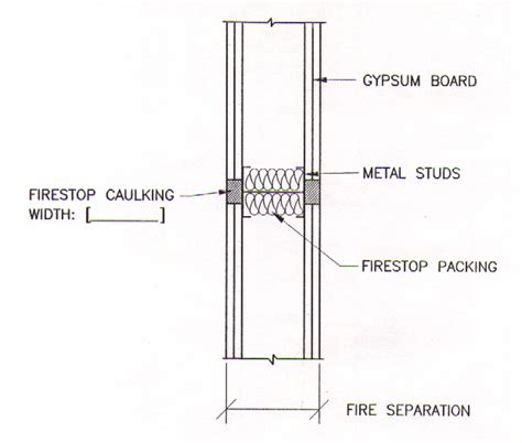 drywall section building joint firestop drawings 3 of 3