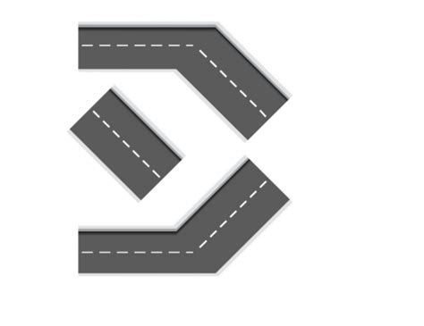 Printable Road Tracks | printable diy car tracks road sections 1