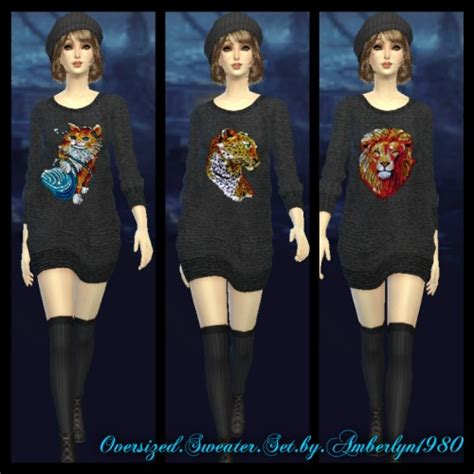 oversized sweater sims 4 cc sims 4 oversized sweater set