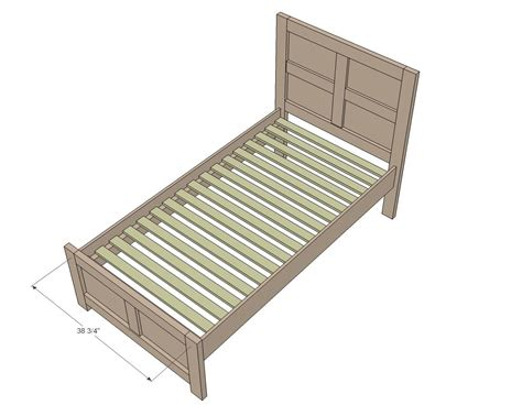 Simple Twin Bed Frame Blueprints Easy Twin Bed Plans Simple Bed Plans
