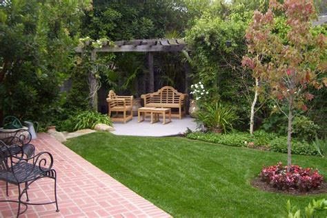 backyard landscape ideas with touch corner