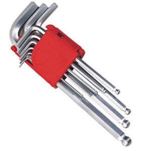china 9pc point hex key wrench set allen key cr v