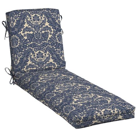 outdoor chaise lounge cushion hton bay caprice stripe outdoor chaise lounge cushion
