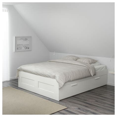 bett 140x200 ikea brimnes bed frame with storage white lur 246 y 160x200 cm ikea