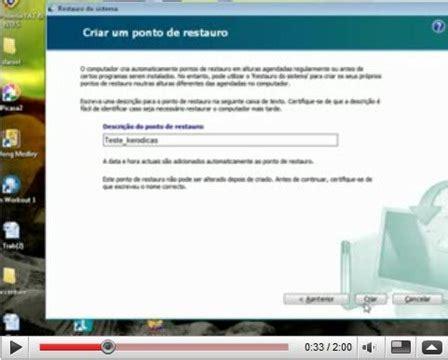 tutorial de como fazer video no windows movie maker v 237 deo tutorial como criar um ponto de restauro no windows