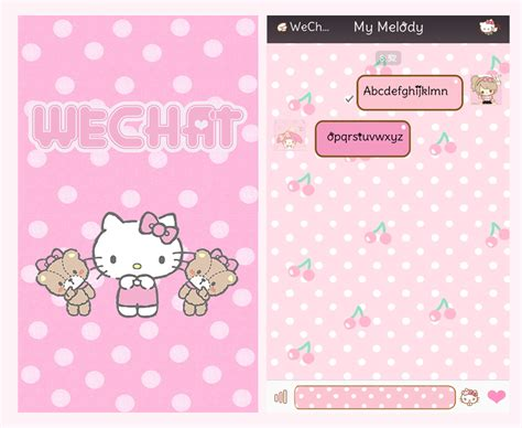 theme hello kitty cho ios 9 kitty fang hello kitty wechat theme ver 6 0 new