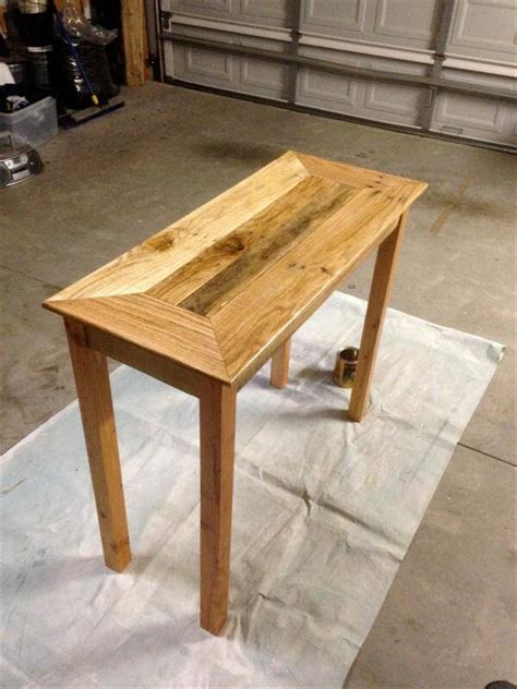 Pallet Console Table Diy Pallet Wood Console Table Pallet Furniture Diy