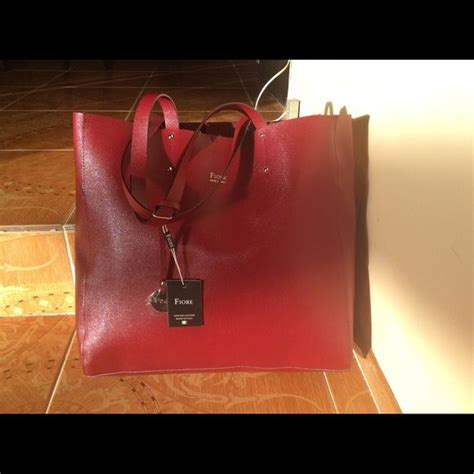 fiore handbags italy leather shoulder purse fiore genuine leather made in italy