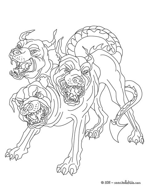 coloring pictures of cerberus coloring pages