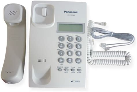 Telephone Telpon Kabel Panasonic Kx T7703 panasonic kx t7703 single line telephone set with caller