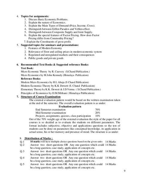 Distinguish Between Price Ceiling And Price Floor - b b a syllabus sem 1 to 5