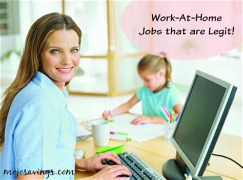 work at home that are legit