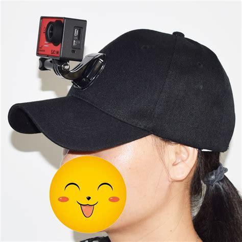 topi baseball dengan j base mount gopro black