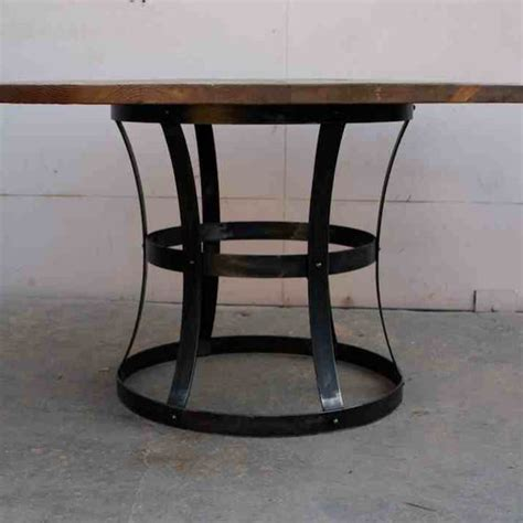 Handmade Metal Furniture - handmade custom metal and reclaimed wood dining table by