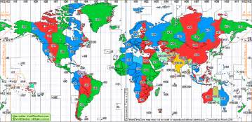 Time Zone Map Of The World by Pics Photos World Time Zone Map