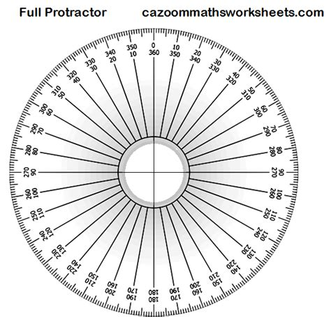 circle protractor template free maths teaching resources ks3 ks4 maths resources