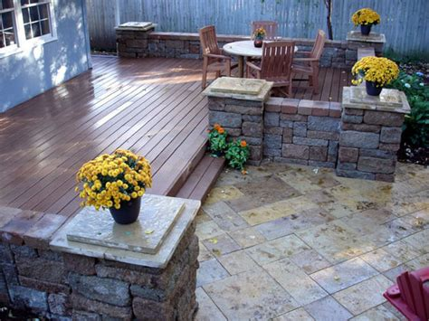 Composite Patio Pavers Decks And Pavers Patios Idea How To Install A Composite Deck And Paver Patio How To Diy