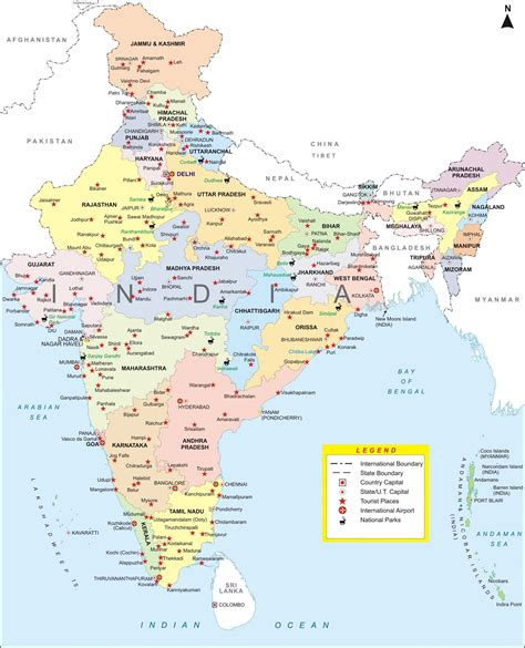 map of major cities in maps of india detailed map of india in tourist