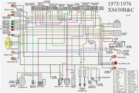 1979 xs650 wiring diagram wiring diagram