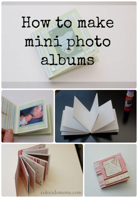 How To Make A Small Book Out Of Paper - how to make a mini photo album coloradomoms