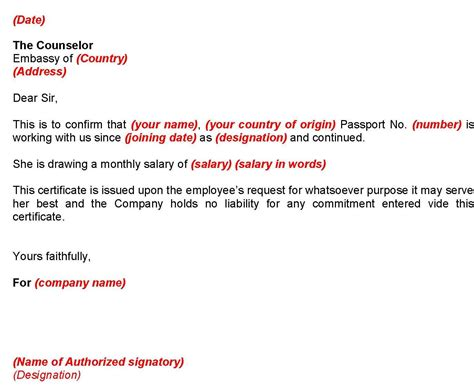 Employment Certificate Letter For Visa Application Tips Michaiko