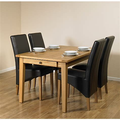 beaumaris light oak extending dining table and 4 chairs