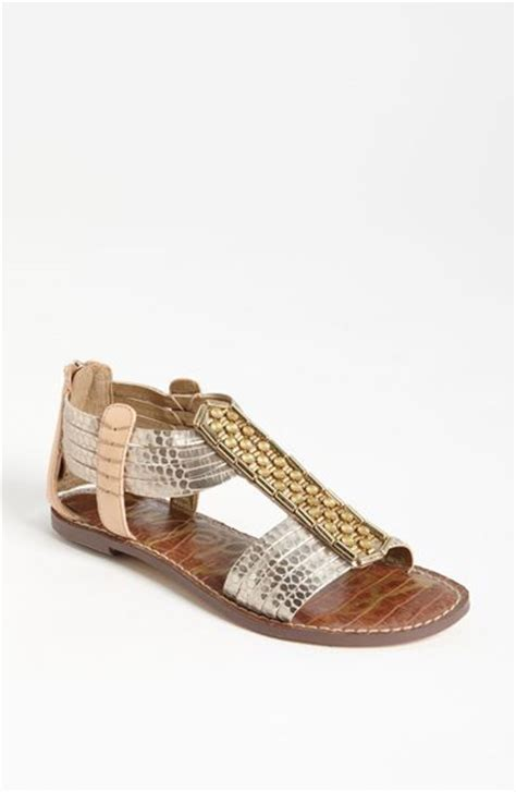sam edelman gold sandals sam edelman embellished sandal in gold light gold lyst