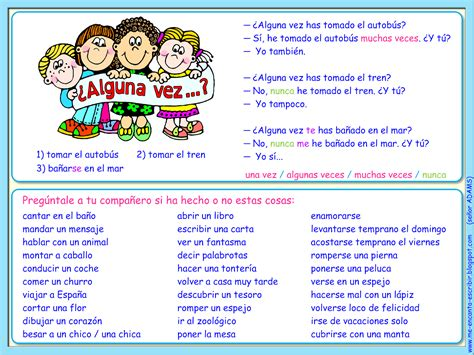 Basically A Kid Friendly Quot Never Have I Ever Quot In Spanish To