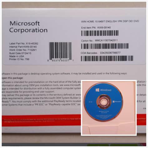 Software Microsoft Office Original original microsoft windows 10 pro software coa sticker systerm win10 home coa