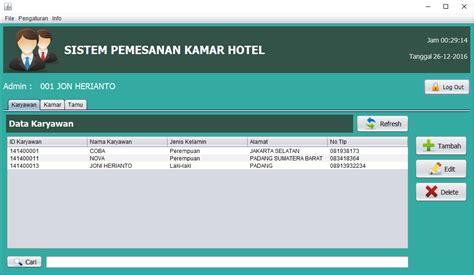 cara membuat form login menggunakan netbeans download sourcecode aplikasi pemesanan kamar hotel