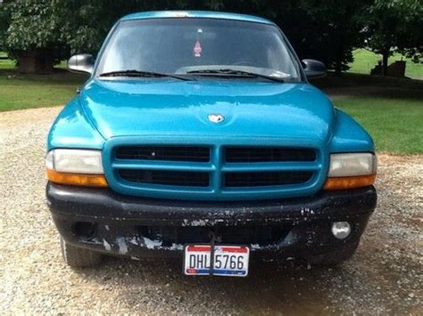 sell used 1997 dodge dakota sport extended cab pickup 2 door 5 2l needs work in knob noster sell used 1997 dodge dakota sport extended cab teal blue in canton ohio united states