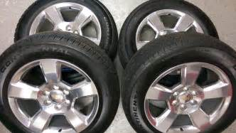 Oem Chevy Truck Wheels And Tires 20 Quot Chevy Silverado Suburban Tahoe Polished 5 Bar Oem
