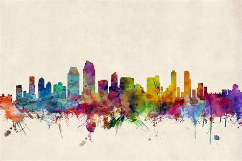 san diego skyline digital by michael tompsett - San Diego Artists