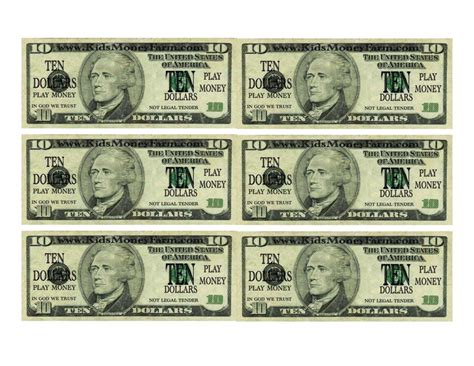 paper money template free dollar bill template for teachers and money template