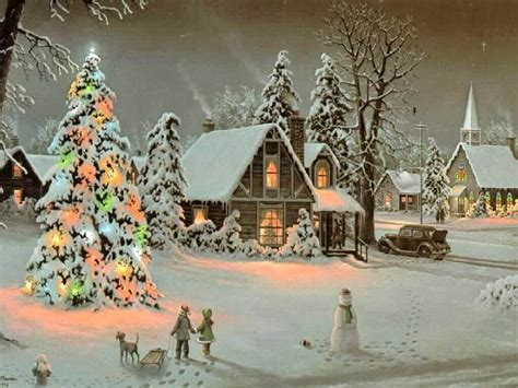 christmas scene christmas wallpaper 9272952 fanpop