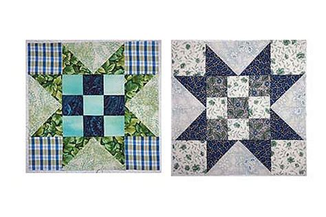 evening quilt block pattern with nine patch centers