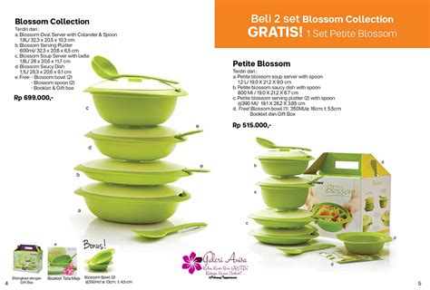 Promo Tupperware Sweet Blossom Set Bonus blossom collection tupperware indonesia promo katalog promo terbaru