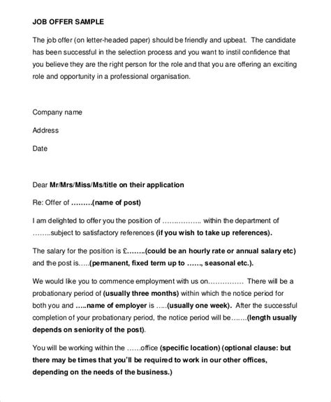 Letter Of Employment Letter Sle Sle Appointment Letter 7 Exles In Word Pdf