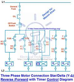 delta starter circuit diagram motor three phase motor connection delta forward