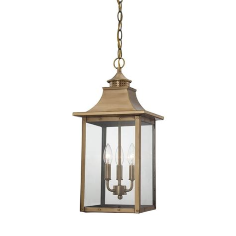 pendant porch lights shop acclaim lighting st charles 16 in aged brass outdoor pendant light at lowes