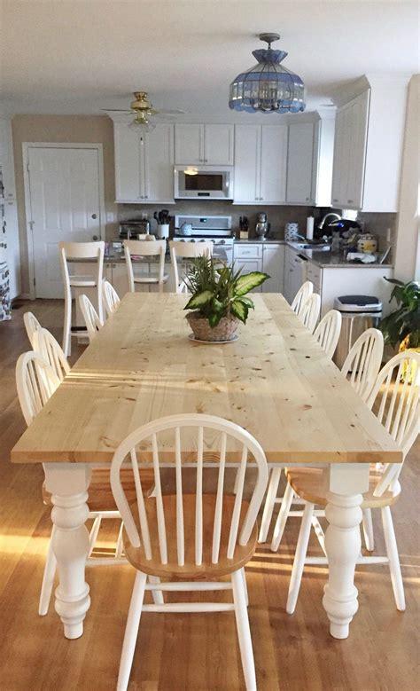 large farmhouse table custom farm table  turned legs