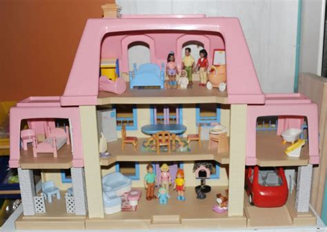 little doll house little tikes grand mansion vintage dollhouse loaded