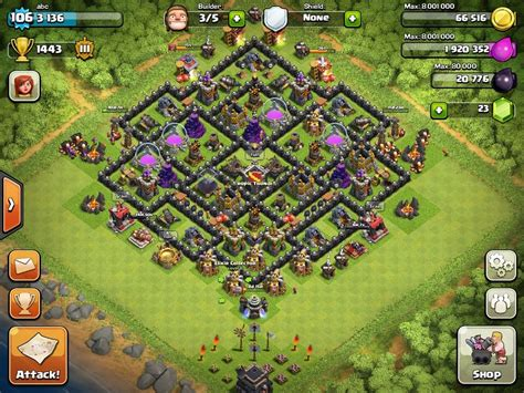 clash of clans layout strategy level 9 image gallery town hall 9