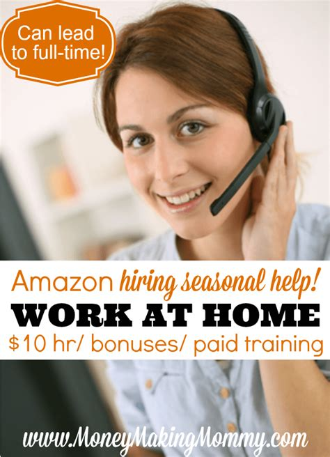 Work For Amazon Online From Home - work at home for amazon seasonal help 10 hour bonuses
