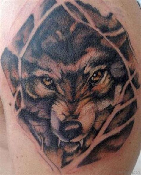 wolf face tattoo 51 wolf tattoos on shoulder
