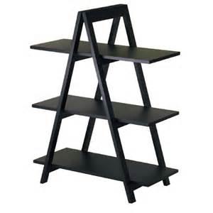 A Frame Bookshelves Free Standing Wood Shelf Unit Organization Store