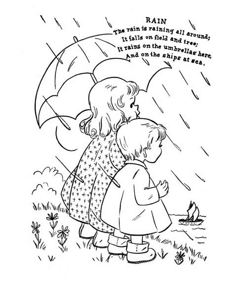 april showers coloring pages coloring home